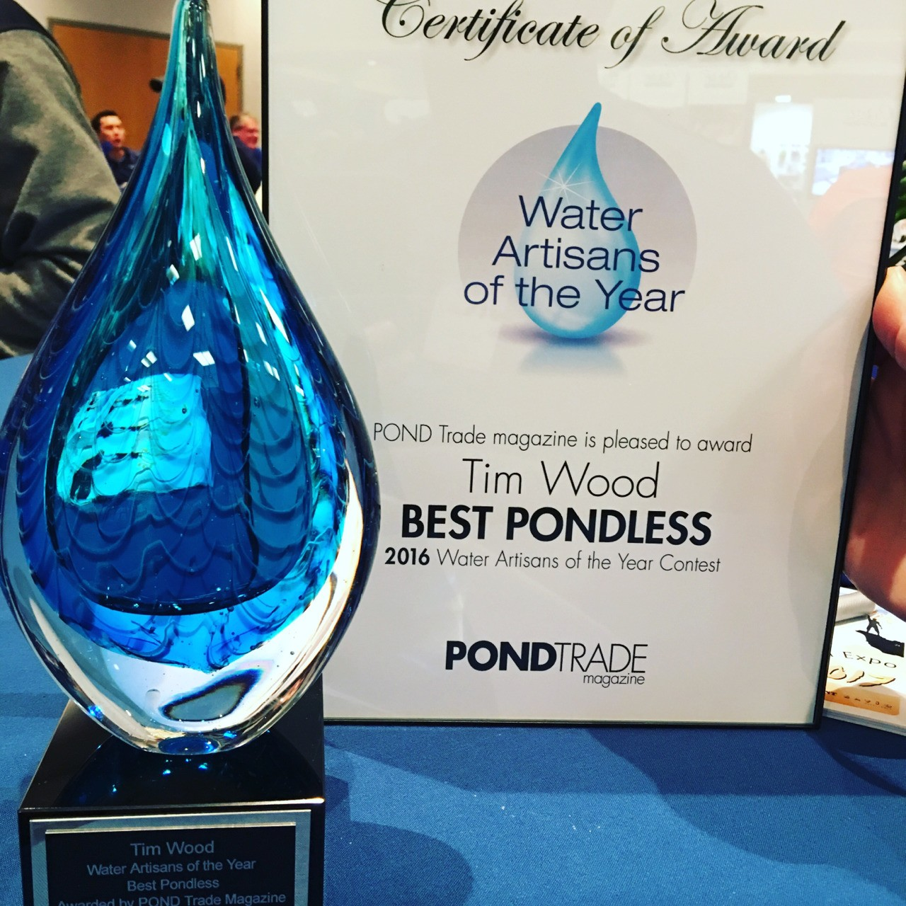 Winner for Best Pondless Waterfall of 2016 by POND Trade Magazine.