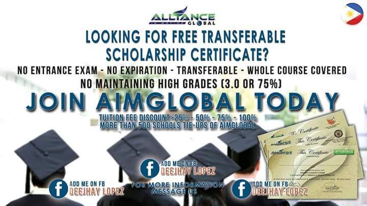 Aim global not only giving a business opportunity but also a healthy life and scholarship program. for those who is interest just leave a message.thank u!
