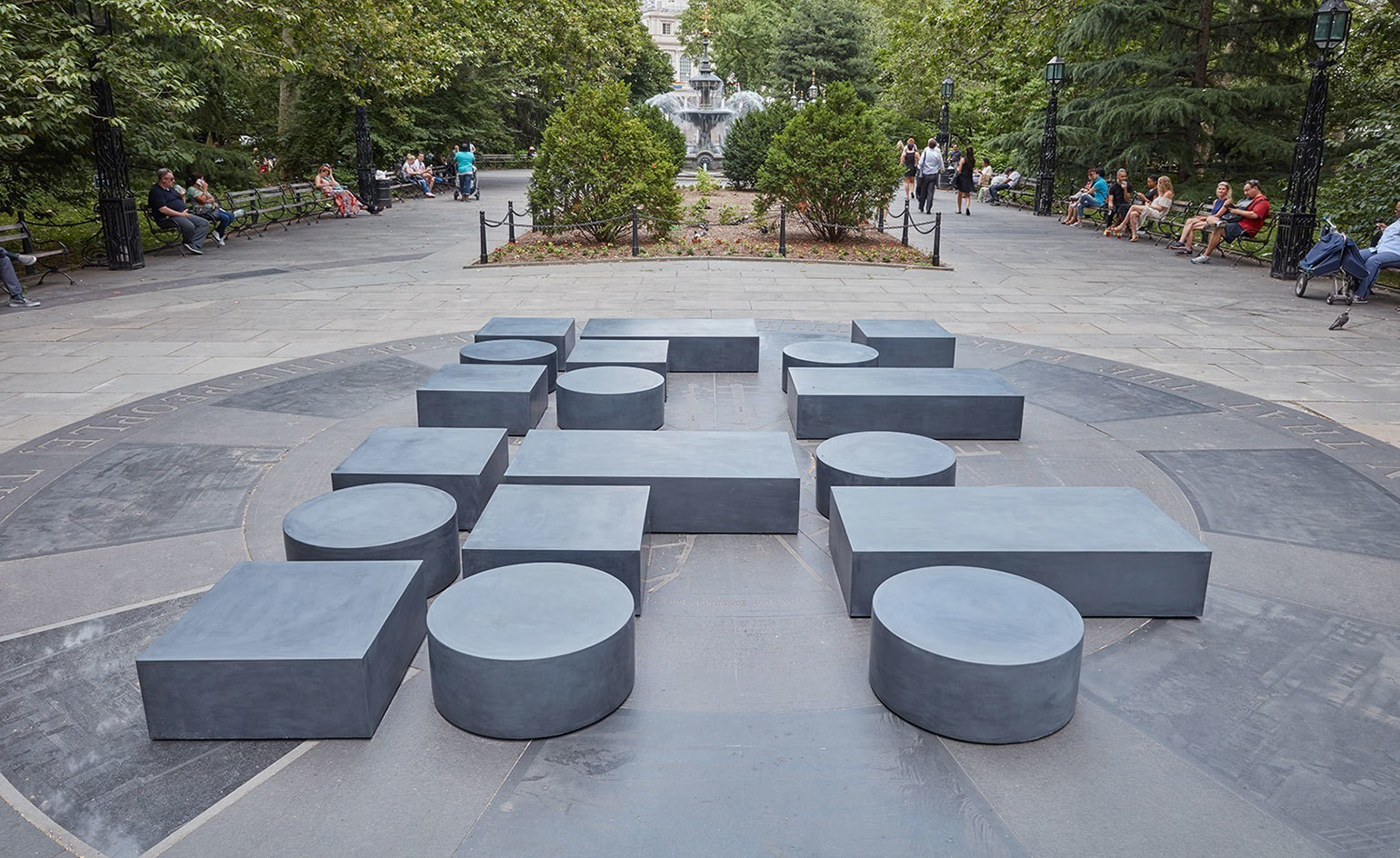 Street talk: an exhibition of language-inspired sculpture takes over New York's City Hall Park