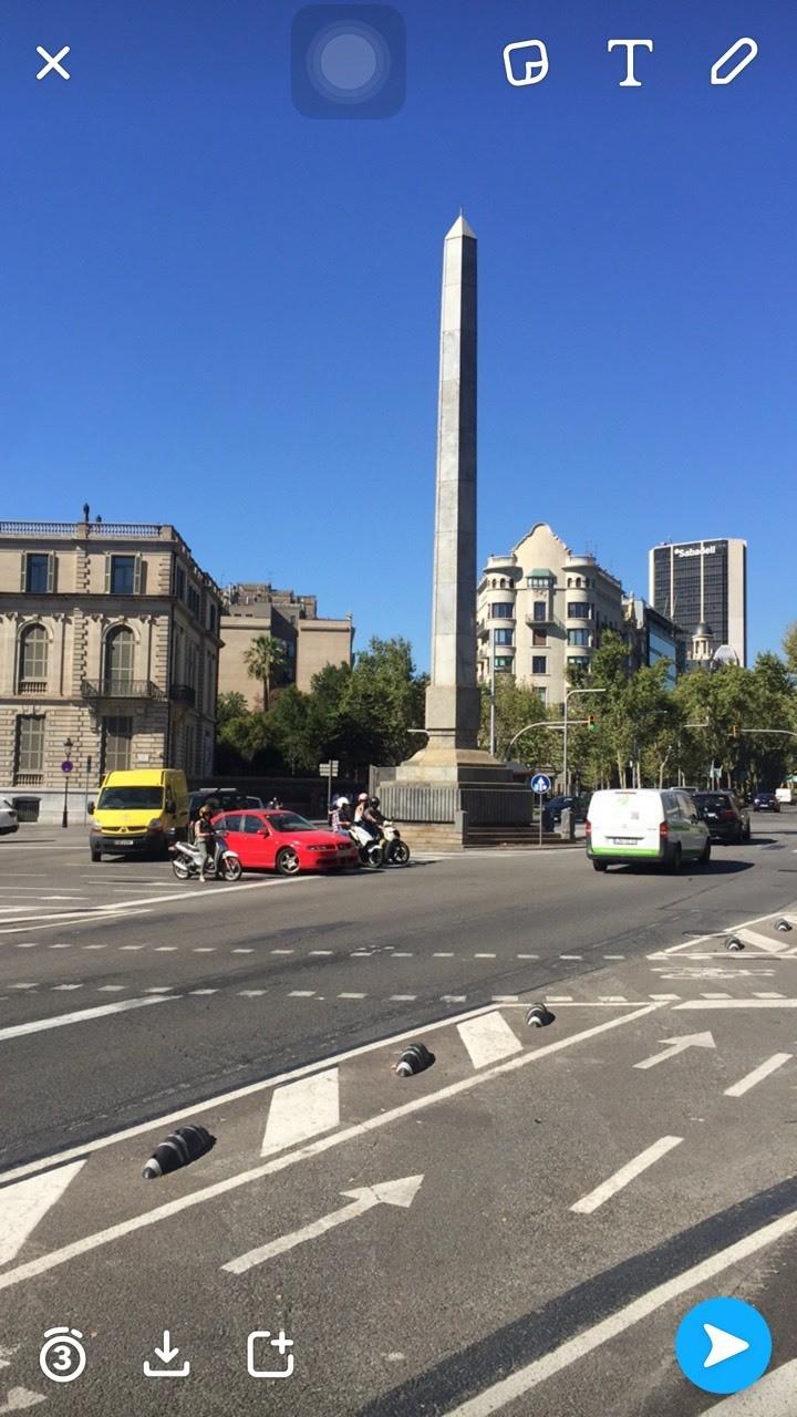 One famous landmark in Barcelona.