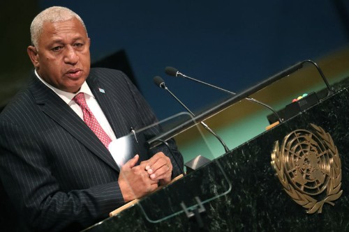 Fiji prime minister leads provisional election count