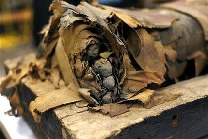 Chicago scientists open Egyptian mummy coffin