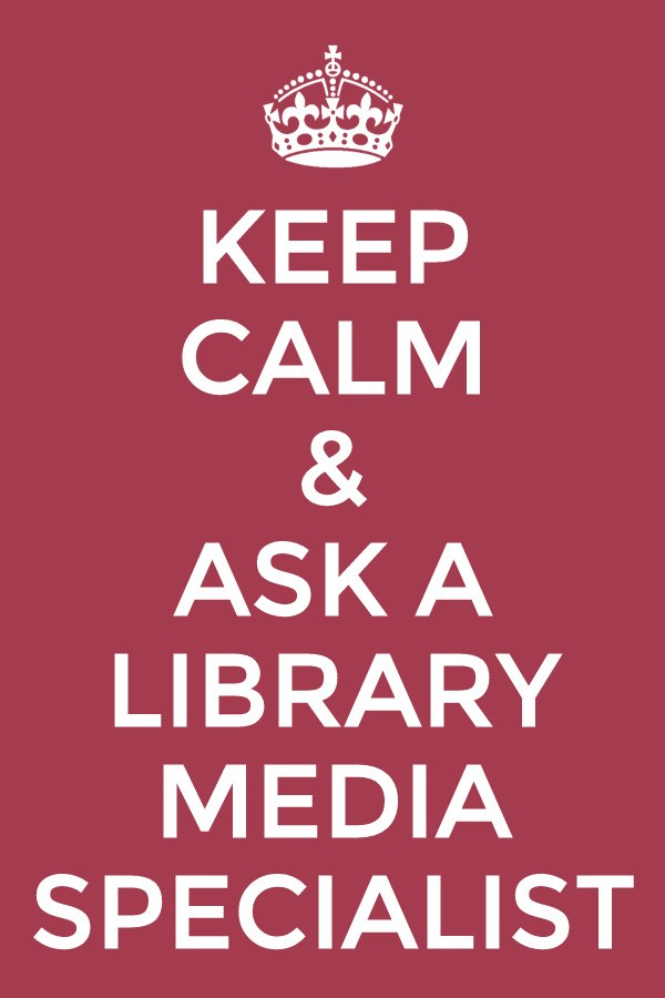 Ask the LMS for help w/Reluctant Readers, Common Core Research, selection of iPad Apps, Database navigation, Evaluation of Books & Materials for the curriculum.