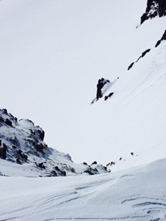 """""""Harn"""" pounded gnar! We skied this nasty line and luckily no one was hurt!"""