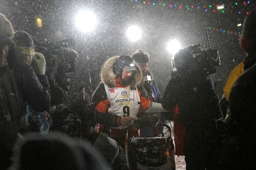 Alaskan musher wins his first Iditarod, crossing finish line in Nome