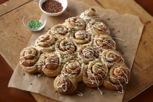 Cinnamon Roll Christmas Trees Recipe on Food52