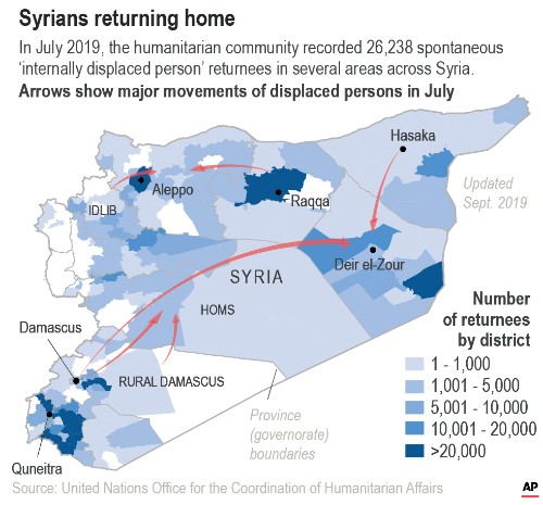 From IS camp, Syrian family returns home to a hostile city