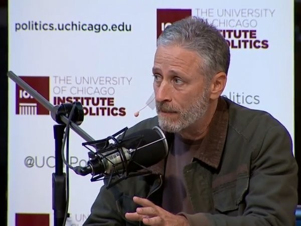 Jon Stewart compares Hillary Clinton's 'inauthenticity' to the 'weird lag' of playing a PC game on a Mac