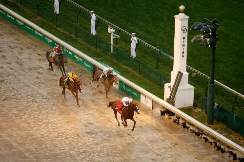 Justify Wins a Wet, Muddy Kentucky Derby: Pictures