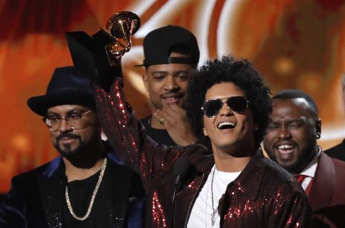 Bruno Mars Takes Top Honors at the Grammys: Pictures