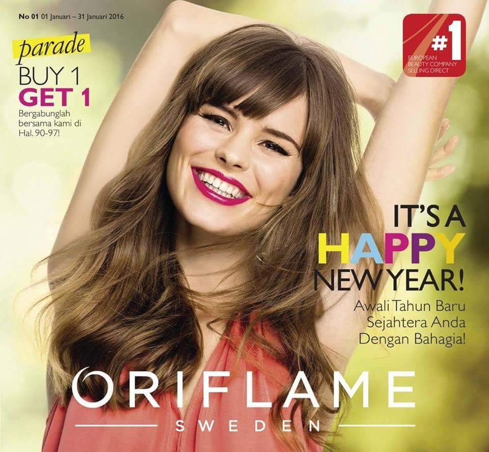 Oriflame Januari 2016 - Magazine cover