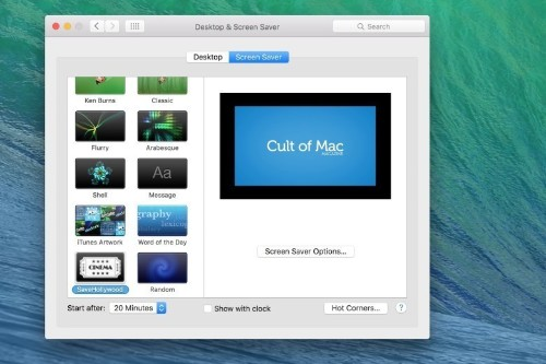 Pro Tip: Bring your Mac to life with a custom video screen saver