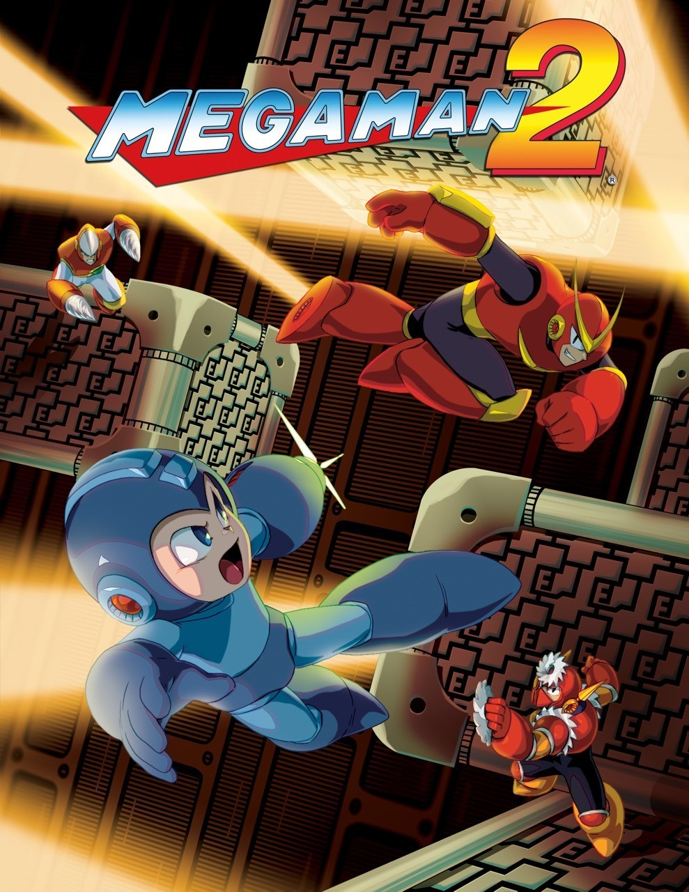 Mega Man II - Official art from the Mega Man Legacy Collection game.