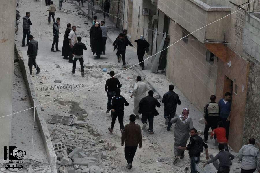 #aleppo escape from shelling