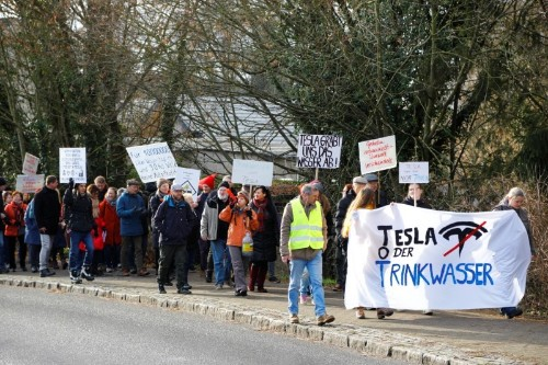 """You're stealing our water"": Germans protest against Tesla gigafactory"