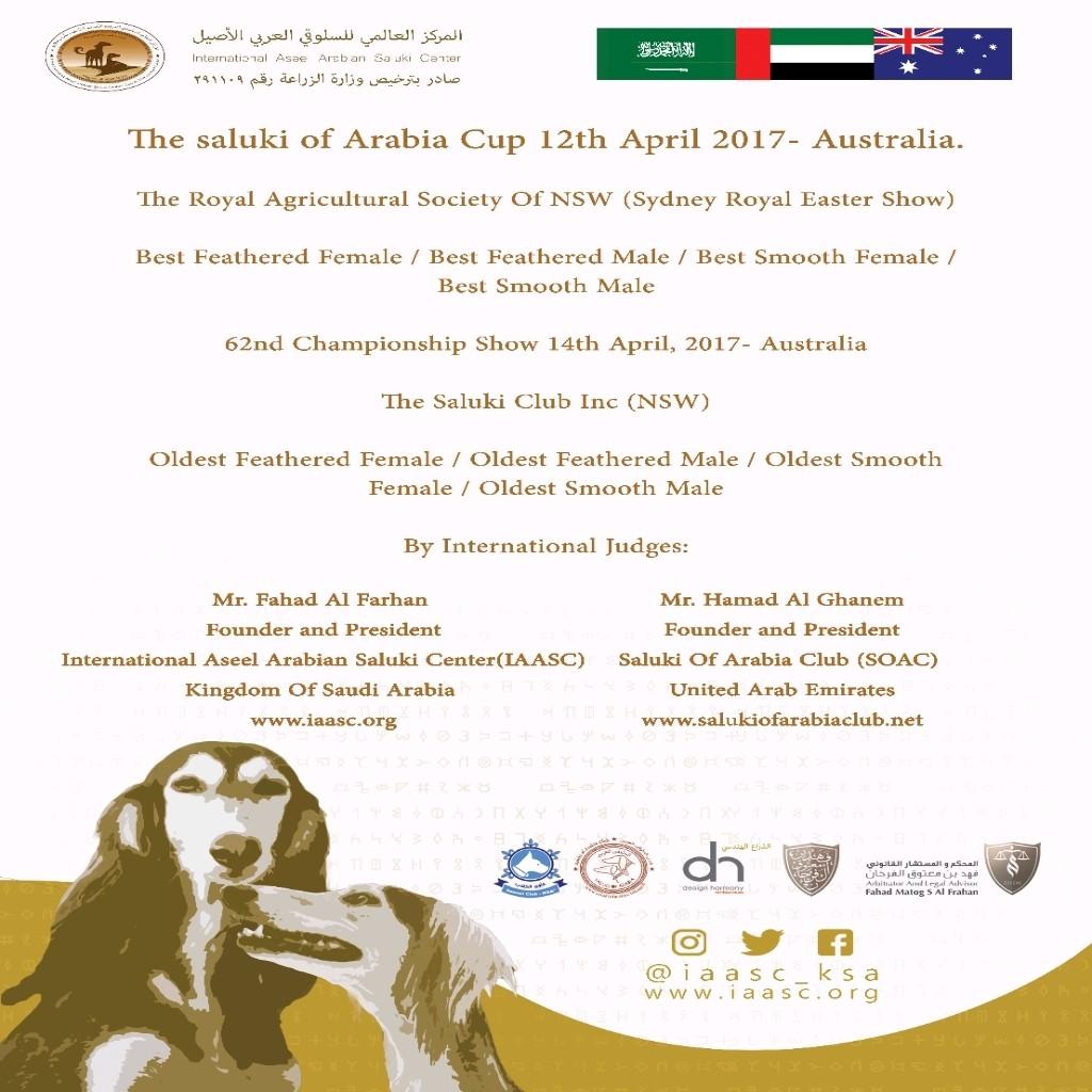 The International Aseel Arab Saluki Center - IAASC - Magazine cover