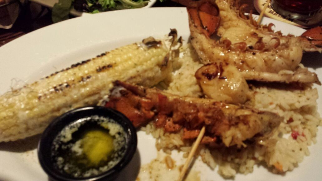 Roasted lobster tail and it is delicious