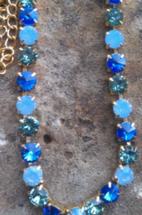 8mm swarovski crystal necklace