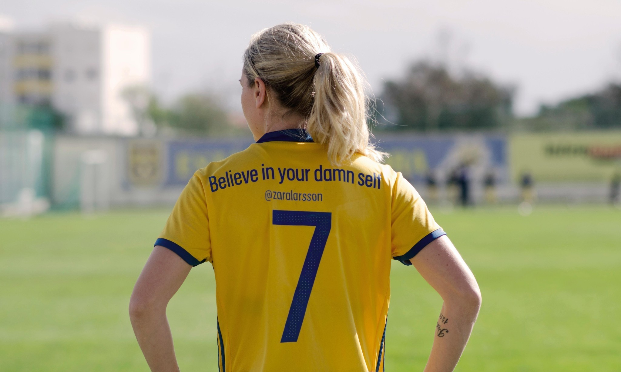 Swedish women's team replace shirt names with messages of empowerment
