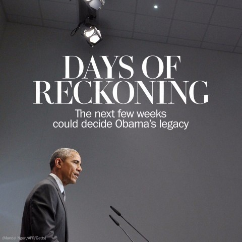 How the next few weeks could determine the fate of Obama's legacy