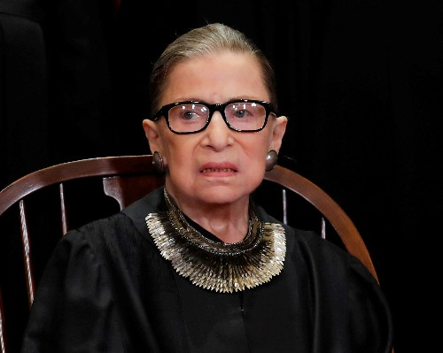 U.S. Supreme Court Justice Ginsburg attends oral argument after cancer bout