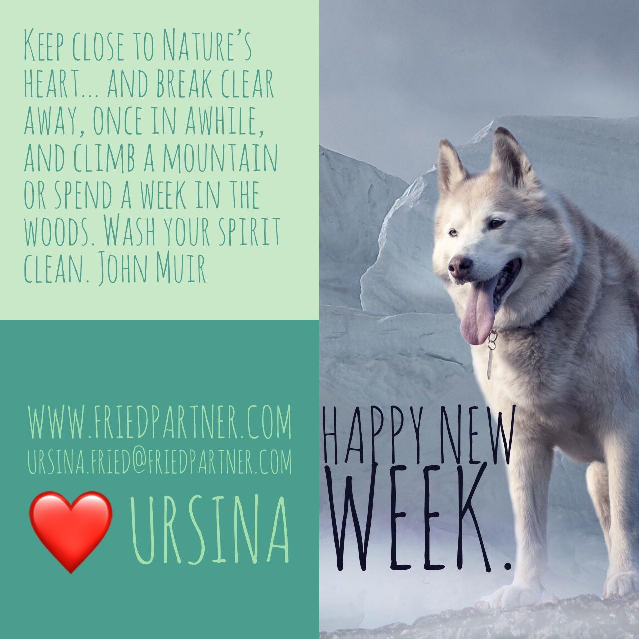 Have a wonderful week. ❤️ Ursina #nature #shamanichealing #hypnosis #nlpmaster #lifecoaching