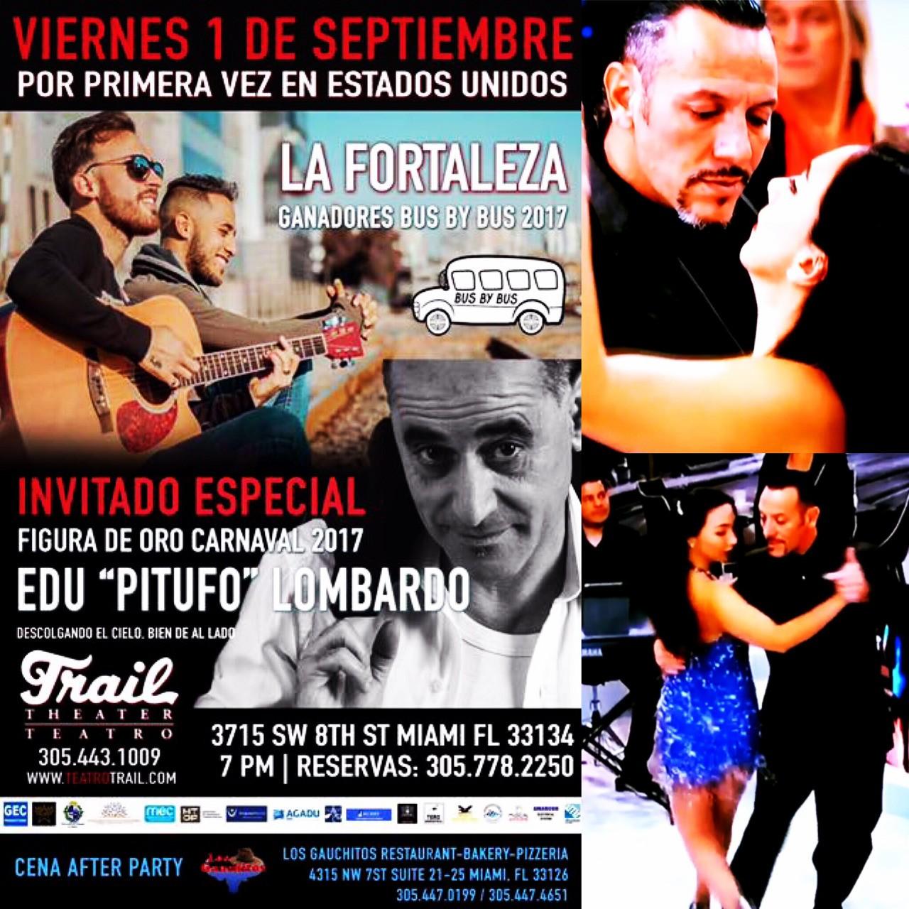 Este primero de Septiembre tendremos el honor de ser artistas invitados por bus by bus (Edu Pitufo Lombardo y La Fortaleza) Los esperamos en el Teatro Trail