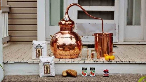 Bourbon & Boots Handmade Copper Whiskey Still Kit