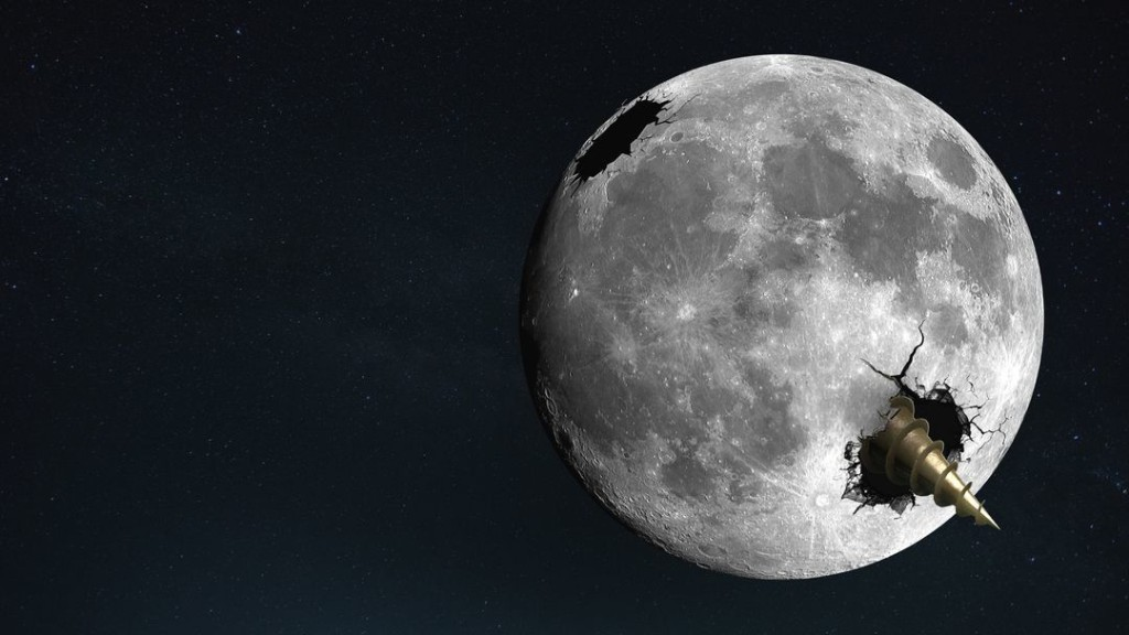 What If We Dug a Hole Through the Moon?