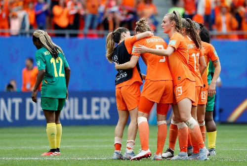 Soccer: Miedema double helps Netherlands to beat Cameroon to seal last-16 spot