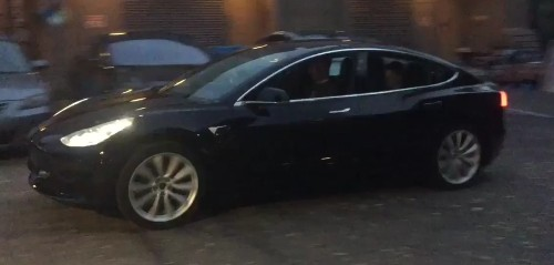 Elon Musk releases video of the first Model 3 release candidate drive