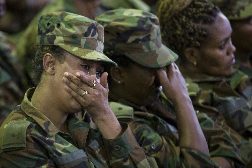 Ethiopian leader sobs at service for slain military chief