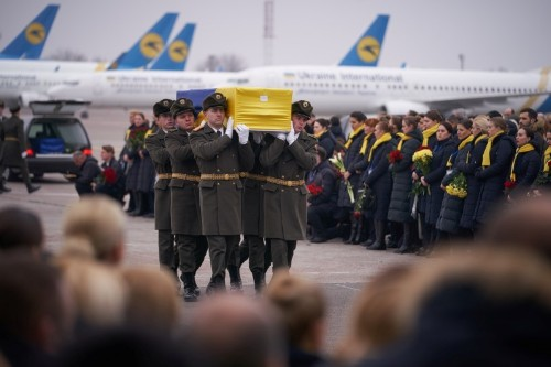 Bodies of Ukrainian victims of Iran plane crash returned home