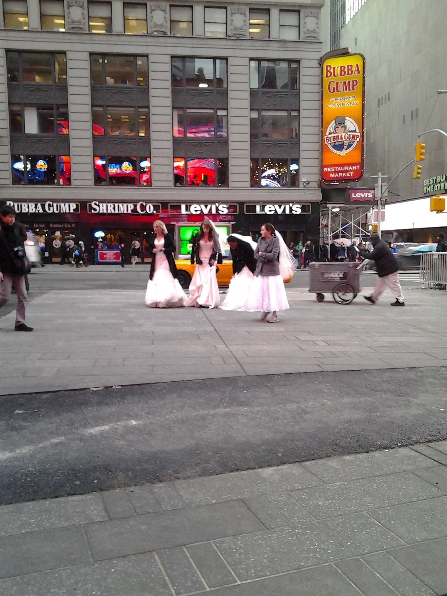 """Cuatro"" in times square"