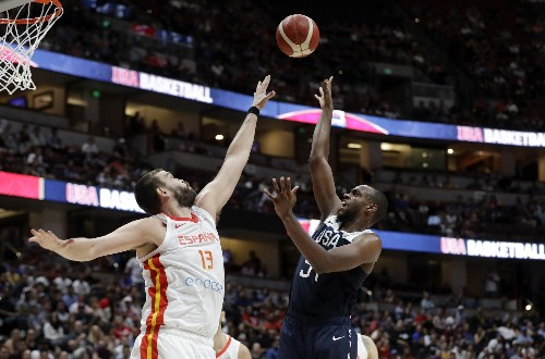 USA tops Spain in pre-World Cup exhibition, 90-81