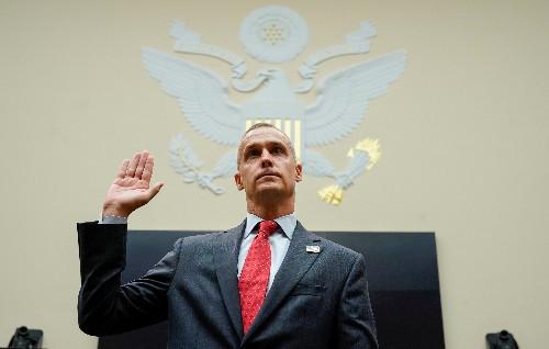 Ex-campaign chief defends Trump, blasts Democrats at impeachment hearing