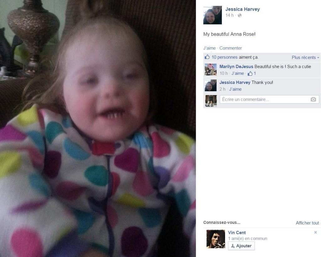 Des parents partagent des photos de leur enfant atteint de trisomie 21, comme Caroline et sa petite Louise