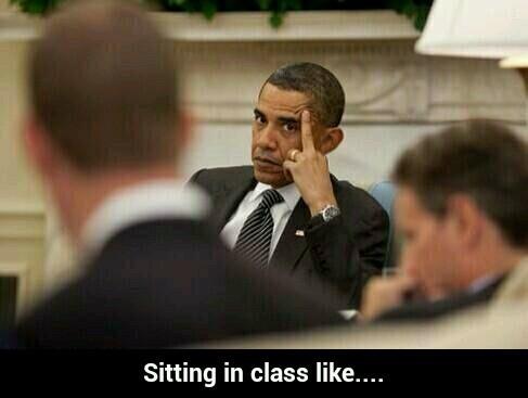 Barack Obama giving the middle finger