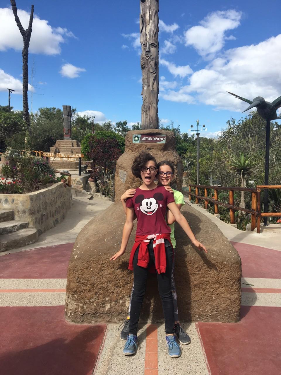 On the Equator in Ecuador!