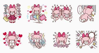08/06(二) 日本區貼圖 - Samantha Thavasa Group Official Stickers 免費(180天) line://shop/detail/1065