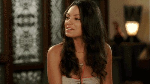 The Mila Kunis gif \ video as giving the finger..( check out my finger magazine ).