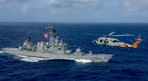 Japan says destroyer and Chinese boat collided; China says one hurt