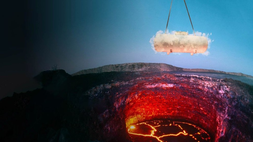 What If We Poured a Pool of Liquid Nitrogen Into a Volcano?