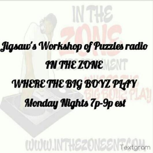 #DJ #Jigsaw #LIVE #Tonight 7p-9p est inthezoneent.com/#!live-shows/c9qb