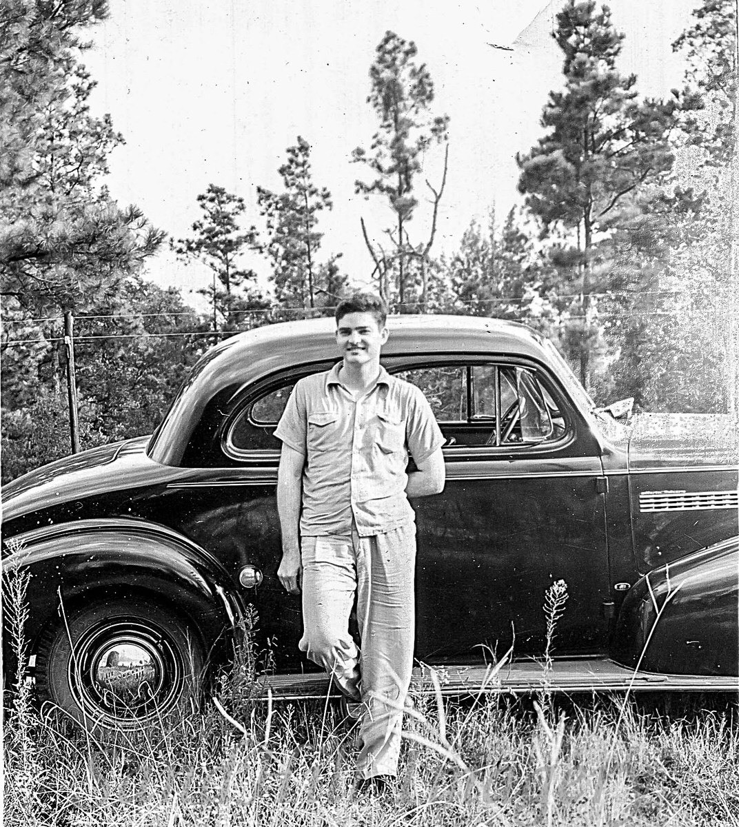 My dad, Theron Old, and the new 1939 Chevy.