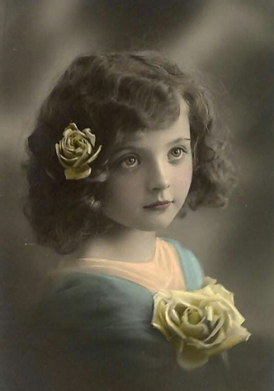 """Lovely Lillian Harris 1895"" The girl with the beautiful eyes. Beautifully hand coloured photo postcard. Lillian was born in Boston, Massachusetts and was one of 8 children. Her father was a successful business owner with three clothing stores. There was..."