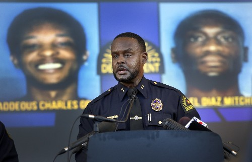 2 suspects in custody, 1 sought in cop trial witness slaying