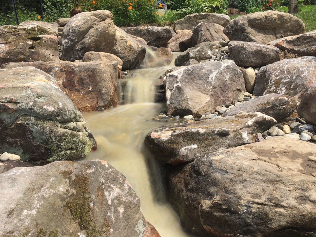 Pondless waterfall in Squirrel Hill, Pittsburgh PA