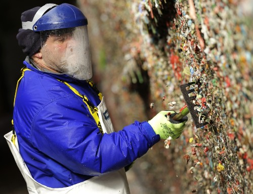Seattle's Famed Gum Wall Cleaned Off: Pictures