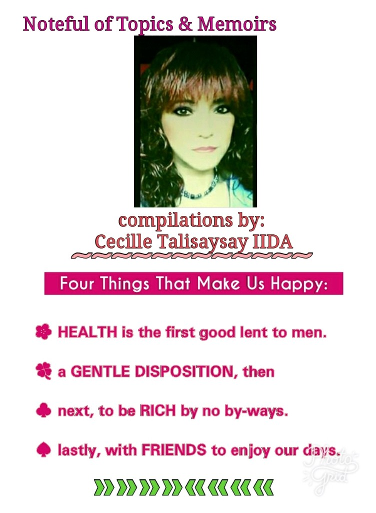Noteful Of Topics & Memoirs By: Cecille Talisaysay iida - Magazine cover